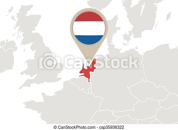 Carte Europe Pays Bas.Europe Carte Pays Bas Europe Carte Drapeau Pays Bas Mis Valeur
