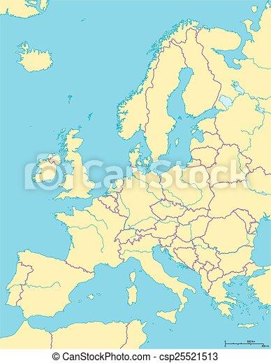 europe, carte, politique - csp25521513