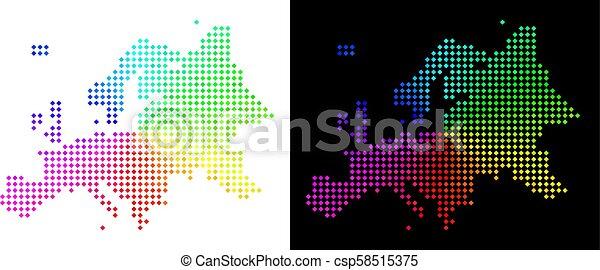 europe, carte, spectre, pixelated - csp58515375