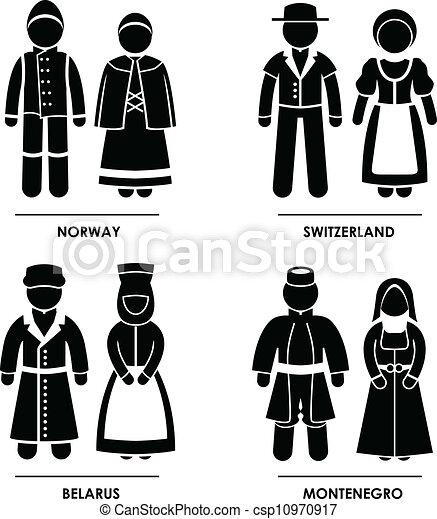 Europe Clothing Costume - csp10970917