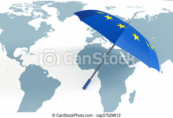 Europe concept of world security one umbrella made with the europe europe concept of world security csp37529812 gumiabroncs Choice Image