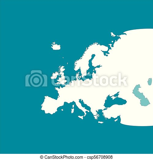 europe continent map contours csp56708908