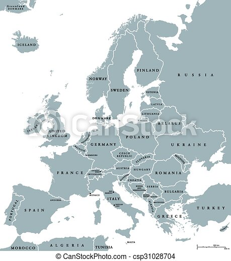 Europe Countries Political Map - csp31028704