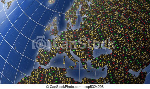Europe economy as stock market - csp5324298