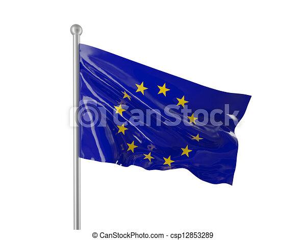 europe flag - csp12853289
