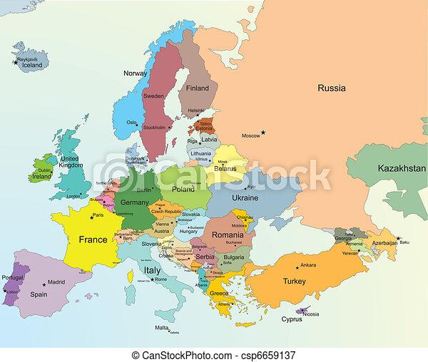 Europe map - csp6659137