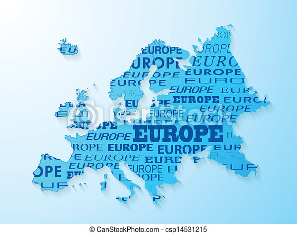 Europe map presentation - csp14531215