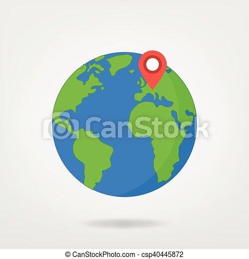 Europe on globe world map illustration location marker on wolrd europe on globe world map illustration gumiabroncs Choice Image