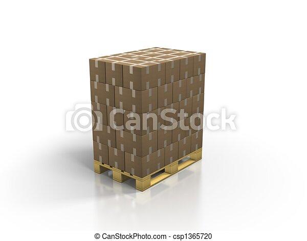 europe-pallets - csp1365720