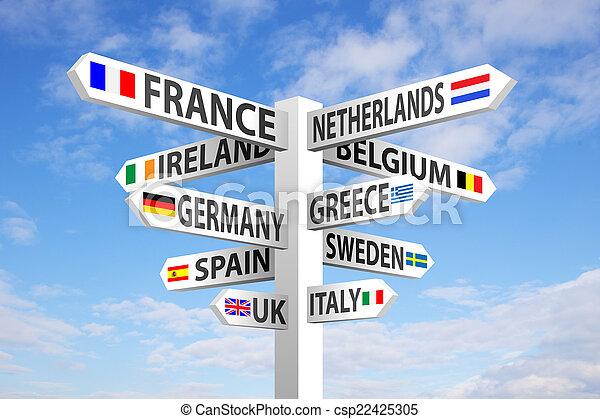 Europe Signpost - csp22425305