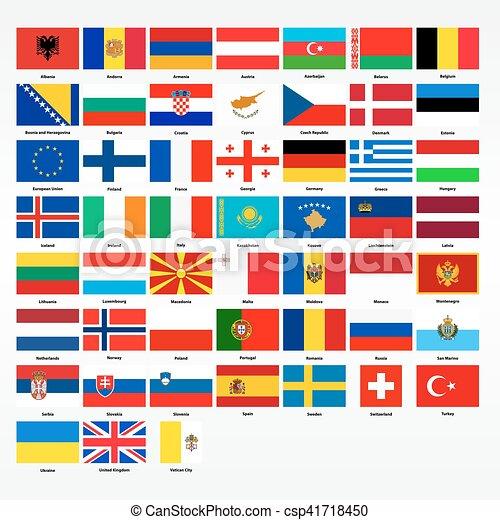 Exceptionnel Europe, tout, ensemble, drapeaux, pays. Tout, ensemble, clipart  DP06
