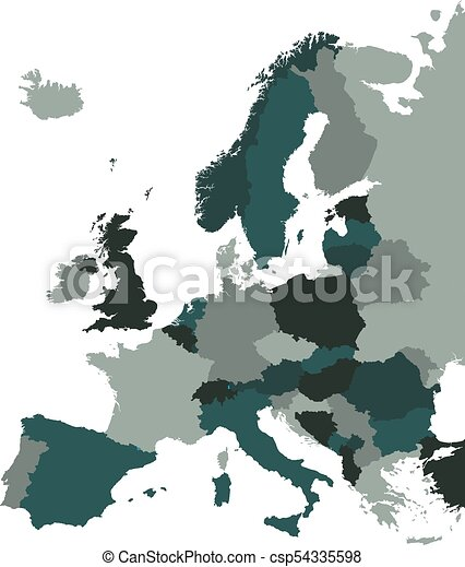Europe vector map isolated on white back eps vectors Search Clip