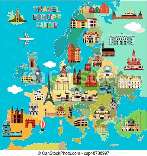 Carte Europe Voyage.Europe Voyage Map