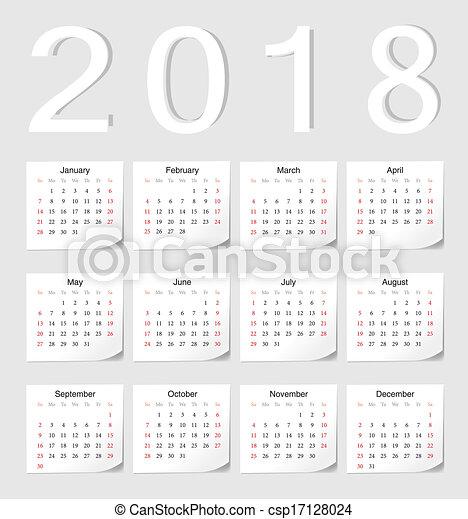 european 2018 calendar csp17128024