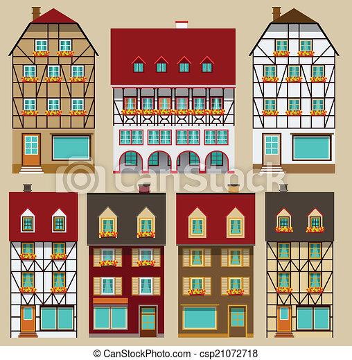 European city houses - csp21072718