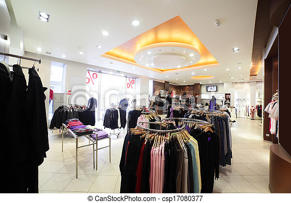 european clothing store with huge collection - csp17080377