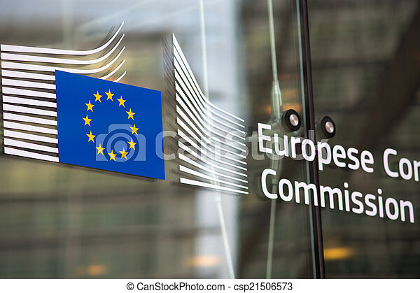 European commission official building entry - csp21506573
