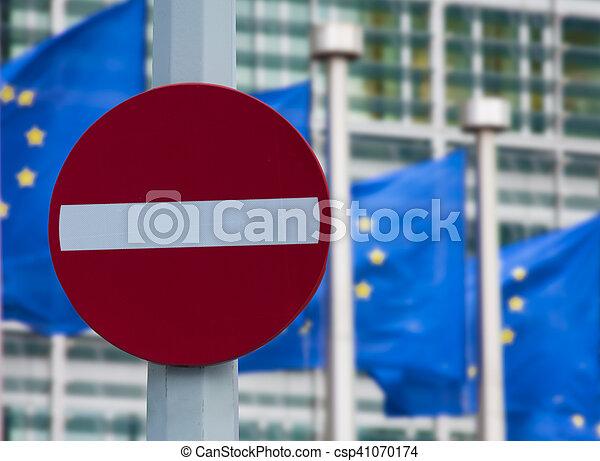 European commission sanctions against Russia concept - csp41070174