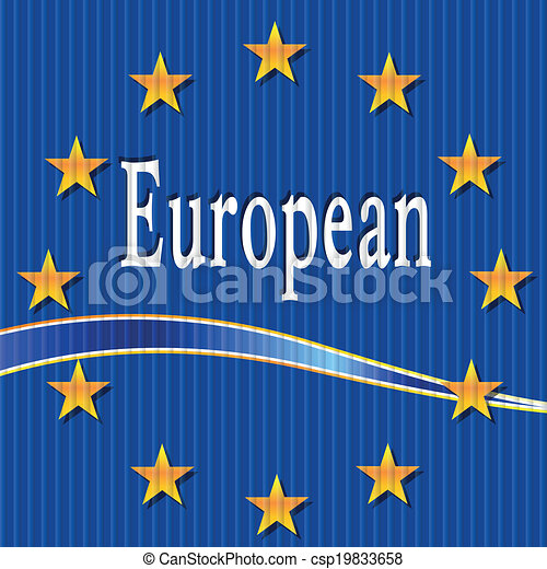 European flag. - csp19833658