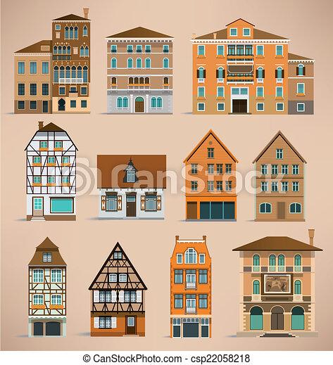 European houses - csp22058218