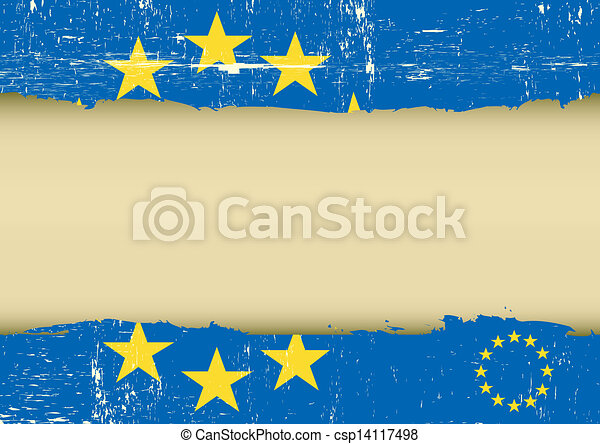 European scratched flag - csp14117498