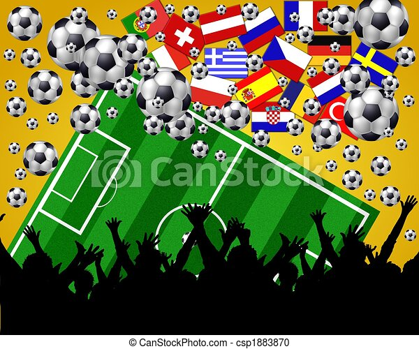 european soccer fans background - csp1883870