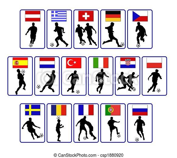 european soccer flags - csp1880920