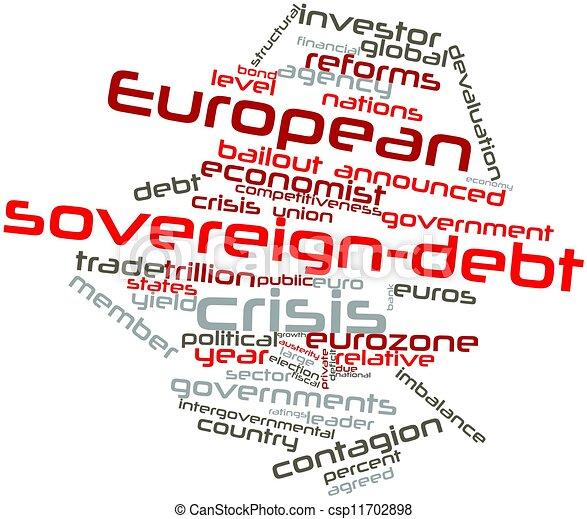European sovereign-debt crisis - csp11702898