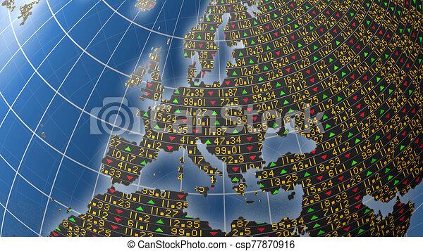 European stock market background - csp77870916