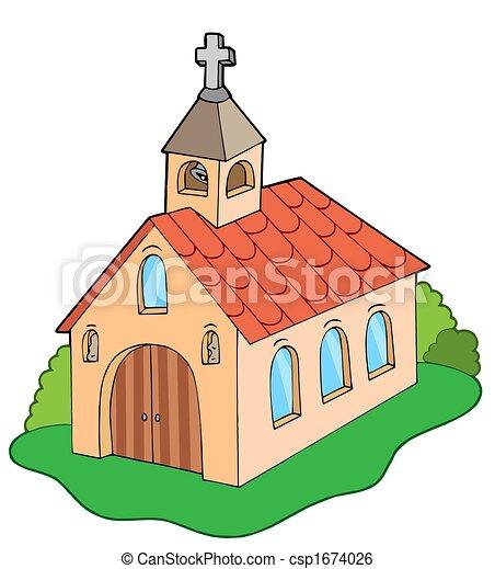 European style church - csp1674026