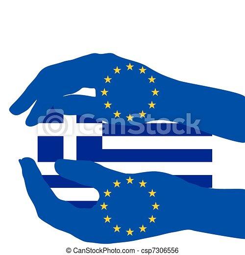 European support for Greece - csp7306556