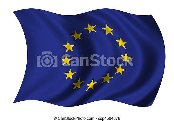 European Union Flag - csp4584876