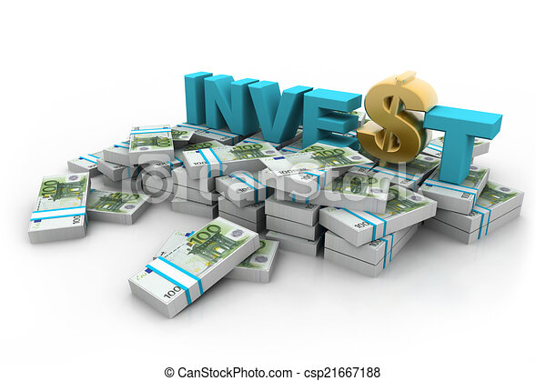 Euros with  invest and dollar 		 - csp21667188