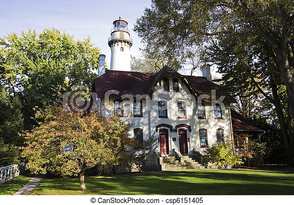Evanston Lighthouse - csp6151405