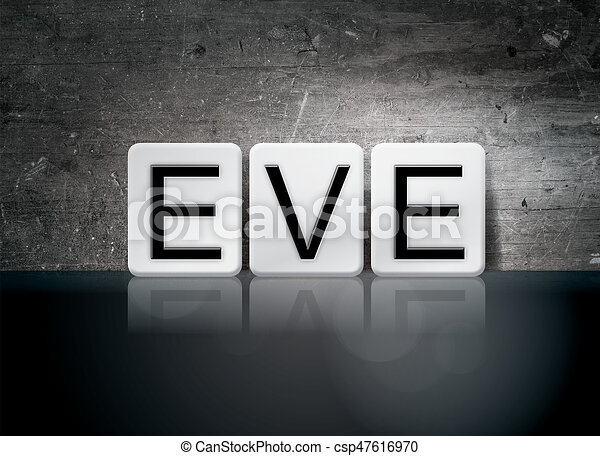 Eve Concept Tiled Word - csp47616970