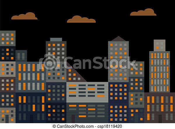 Evening city - csp18119420
