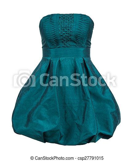 Green Evening Gown Clip Art