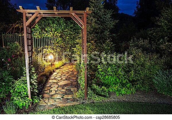 Evening in the Garden - csp28685805