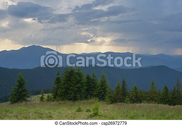Evening in the Mountains - csp26972779