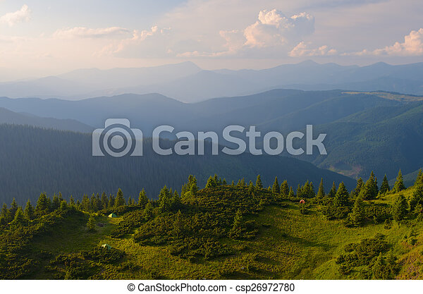 Evening in the Mountains - csp26972780