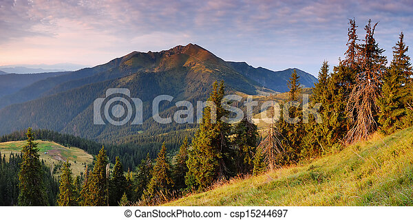 Evening in the Mountains - csp15244697