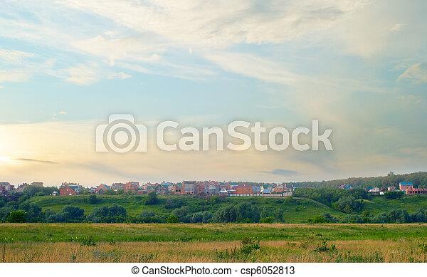 evening landscape - csp6052813
