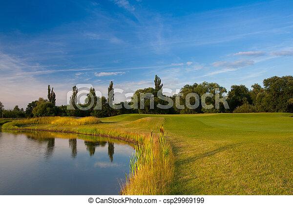 Evening on a golf course - csp29969199