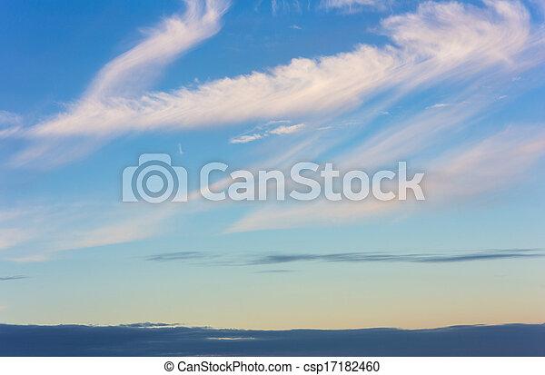 evening sky - csp17182460
