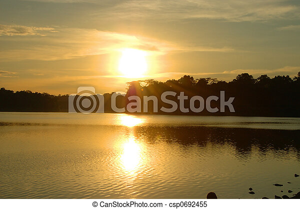 evening sun - csp0692455