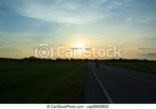 Evening sun - csp26609822
