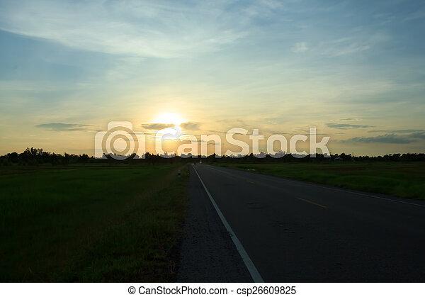 Evening sun - csp26609825