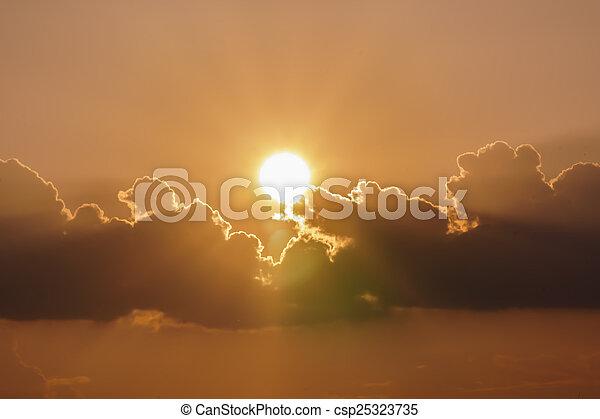 evening sun - csp25323735