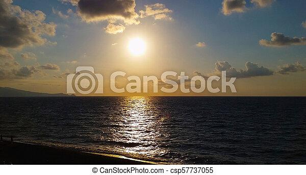 Evening sunset on sea - csp57737055