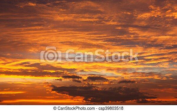 Evening sunset view of beautiful sky - csp39803518